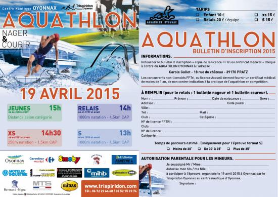 2015 bulletin aquathlon